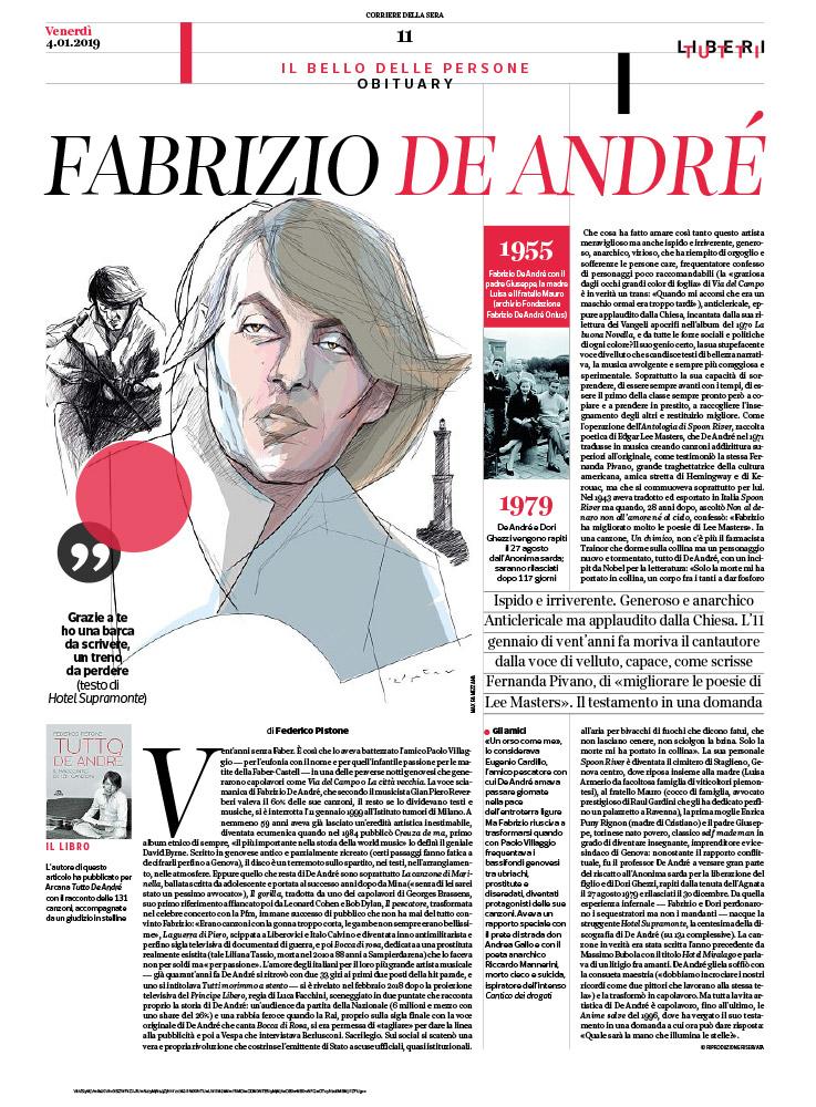 Fabrizio De Andre vent'anni senza faber